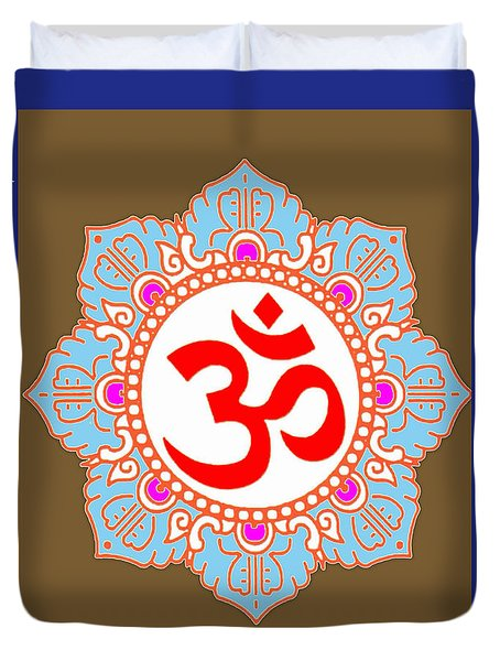Om Mantra Ommantra Chant Yoga Meditation Tool Duvet Cover by Navin Joshi