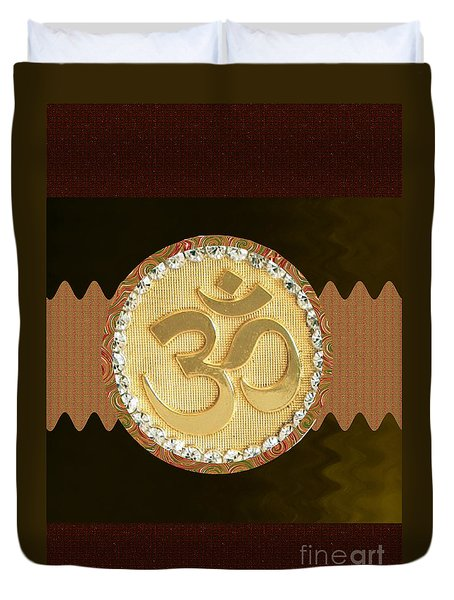 Om Mantra Ommantra Hinduism Symbol Sound Chant Religion Religious Genesis Temple Veda Gita Tantra Ya Duvet Cover