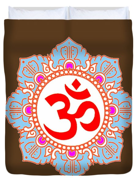 Om Mantra Ommantra Duvet Cover by Navin Joshi