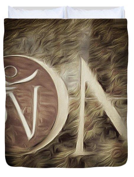 Om Sepia Duvet Cover
