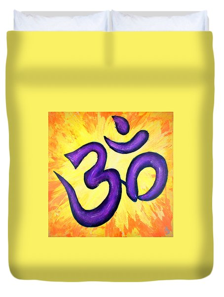 Om Symbol Art Painting Duvet Cover