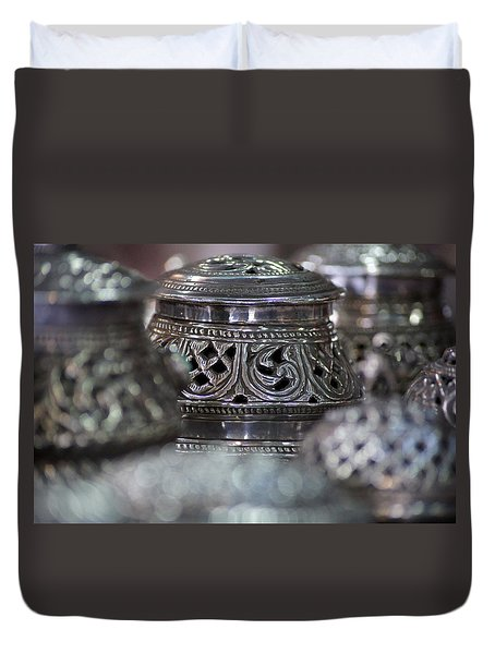 Omani Silver Duvet Cover