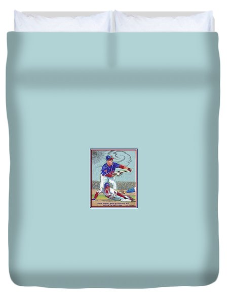 Omar Vizquel Shortstop Magic Duvet Cover