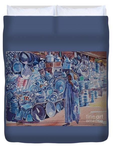 Omdurman Markit Duvet Cover by Mohamed Fadul