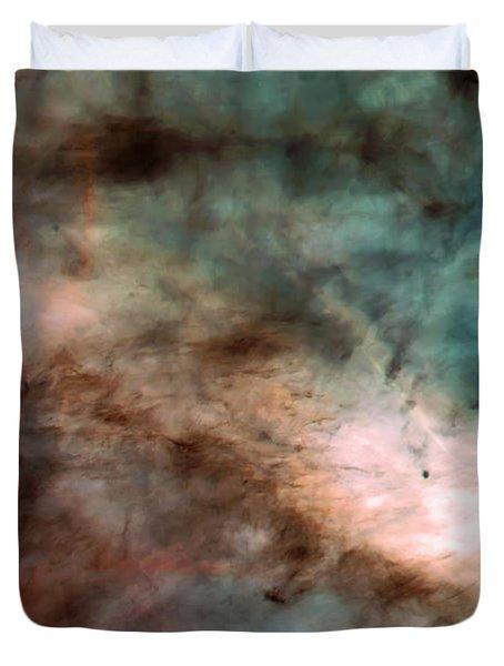 Omega Swan Nebula 1 Duvet Cover by The  Vault - Jennifer Rondinelli Reilly