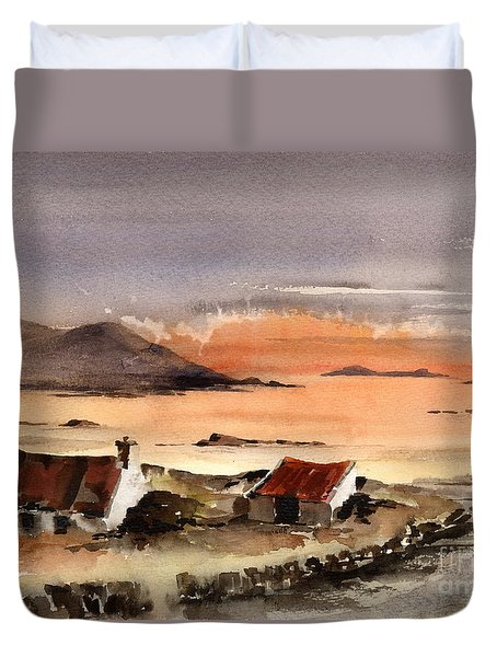 Omey Island Sunset Galway Duvet Cover