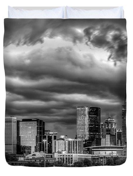 Ominous Charlotte Sky Duvet Cover by Chris Austin