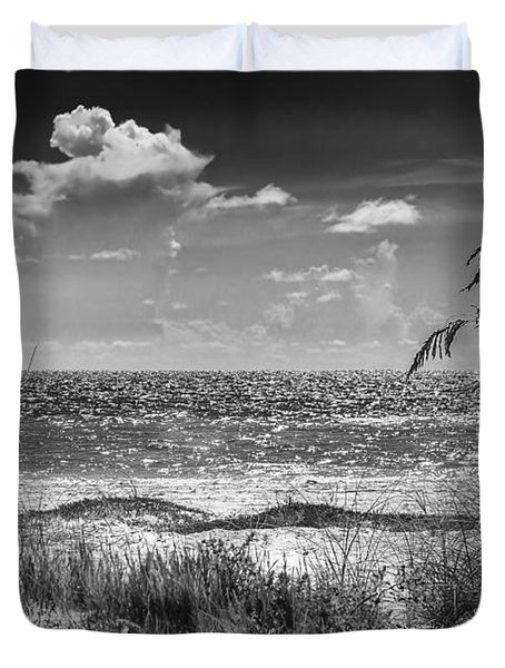 On A Clear Day-bw Duvet Cover
