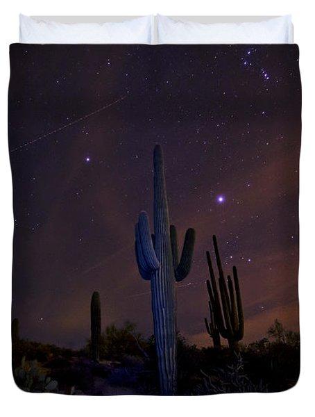 On A Starlit Night  Duvet Cover by Saija  Lehtonen