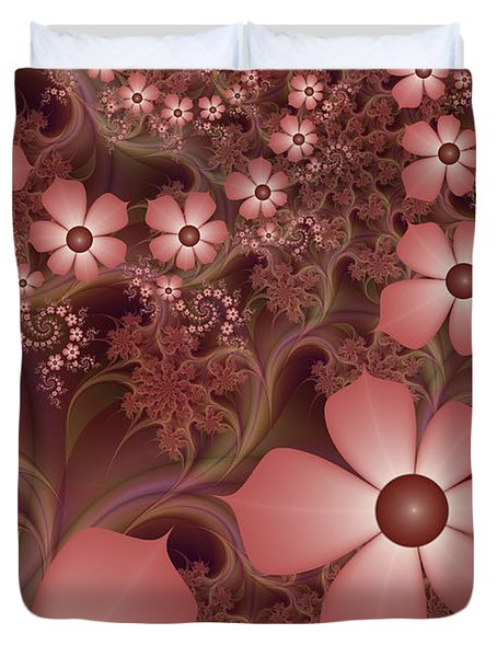 Duvet Cover featuring the digital art On A Summer Evening by Gabiw Art