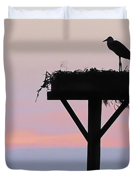 On A Wing And A Prayer Image Art Duvet Cover