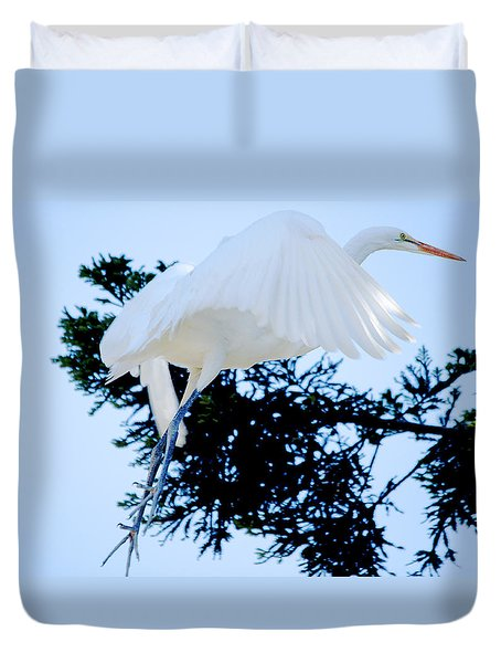 On Approach Landing Duvet Cover