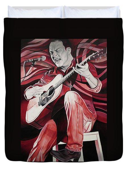Dave Matthews-on Bended Knees Duvet Cover