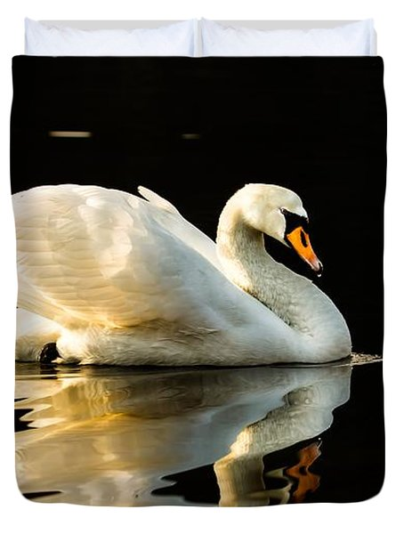 Duvet Cover featuring the photograph On Calm Water by Rose-Maries Pictures