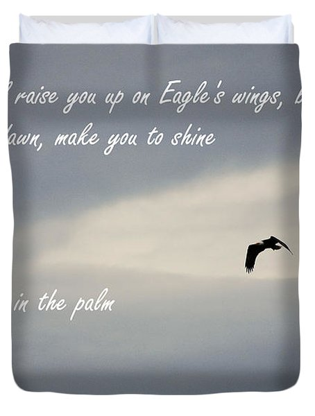 On Eagle's Wings Duvet Cover by Sharon Elliott