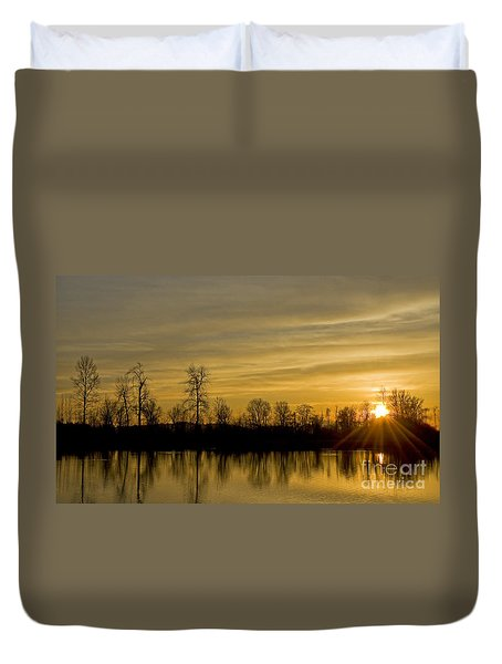On Golden Pond Duvet Cover