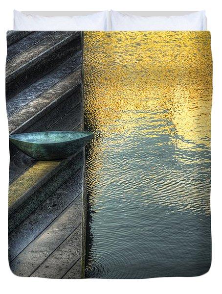 On Golden Pond Duvet Cover by Wayne Sherriff