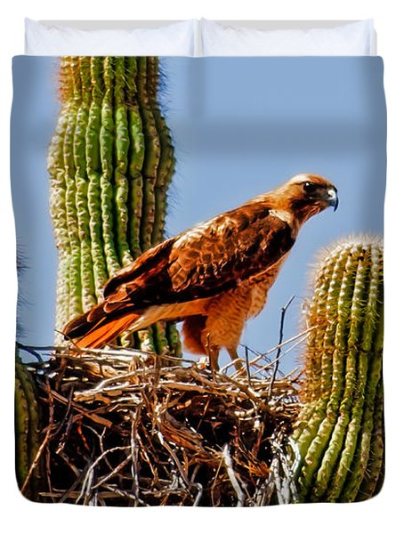 On Guard Duvet Cover by Robert Bales