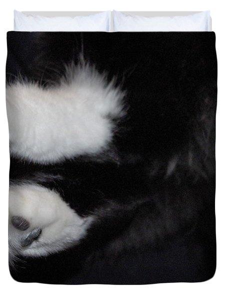 On Little Cat Feet Duvet Cover by Marilyn Wilson