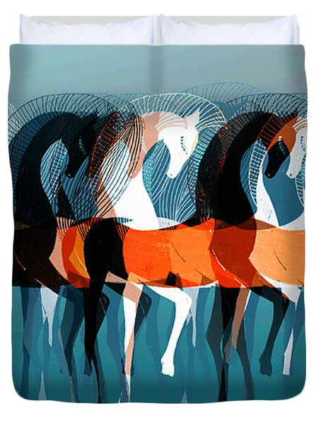On Parade Duvet Cover by Stephanie Grant