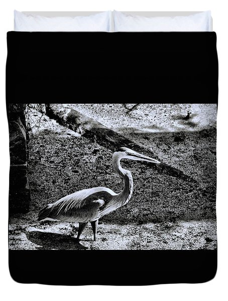 Duvet Cover featuring the photograph On Patrol by Robert McCubbin