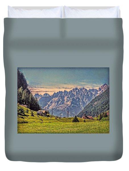 On The Alp Duvet Cover by Hanny Heim