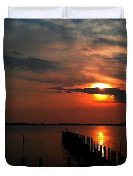 On The Boardwalk Duvet Cover