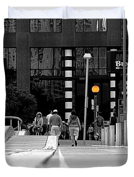 On The Boardwalk Duvet Cover by Valentino Visentini