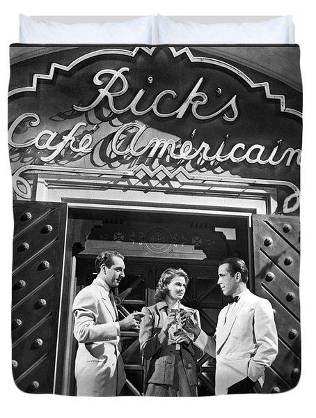 On The Casablanca Set Duvet Cover
