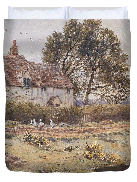 On The Common Hambledon Surrey Duvet Cover