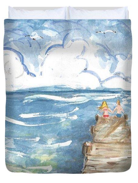 On The Dock Duvet Cover