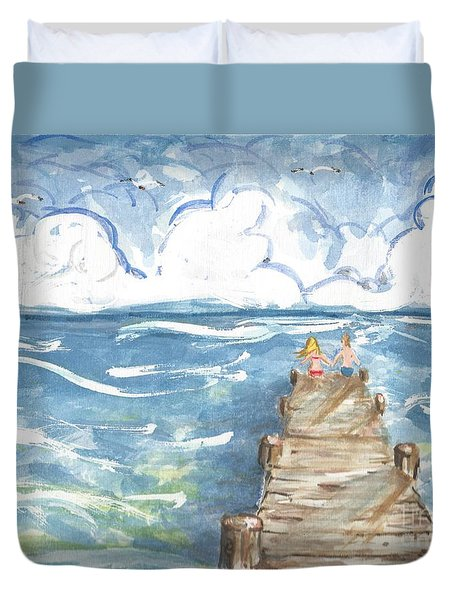 On The Dock Duvet Cover