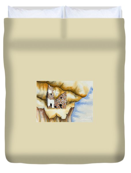 On The Edge Duvet Cover by Jerry McElroy