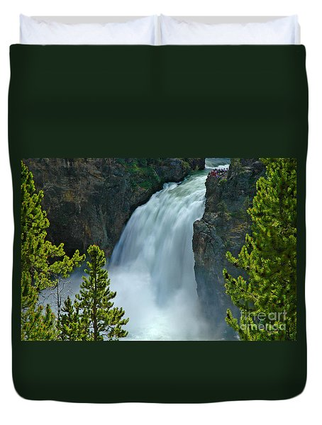 Duvet Cover featuring the photograph On The Edge by Nick  Boren
