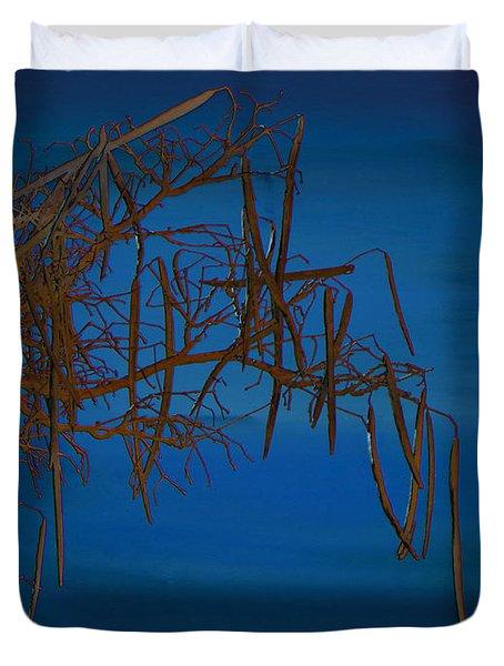 On The Edge Of Sky Duvet Cover by Lenore Senior