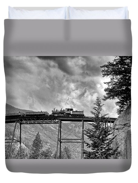 On The High Bridge Duvet Cover by Shelly Gunderson