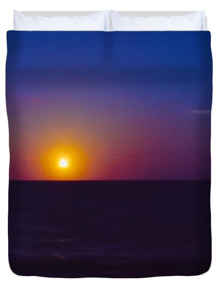 On The Horizon Duvet Cover by Anita Lewis