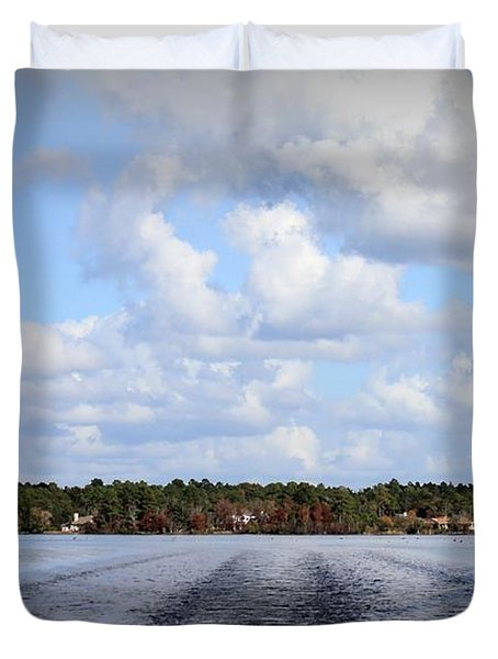 Duvet Cover featuring the photograph On The Lake by Debra Forand
