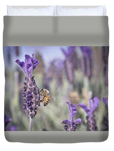 On The Lavender  Duvet Cover