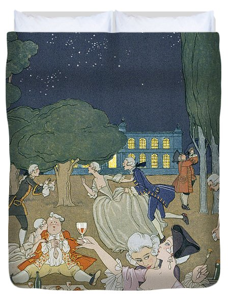 On The Lawn Duvet Cover by Georges Barbier