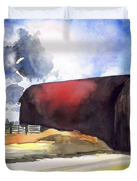 On The Macon Road. - Saline Michigan Duvet Cover by Yoshiko Mishina