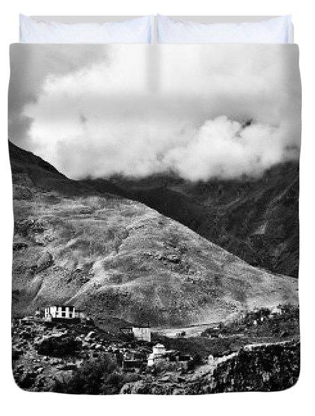 On The Mountainside Duvet Cover