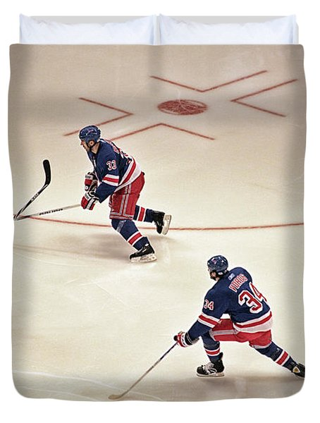 On The Offense Duvet Cover by Karol Livote