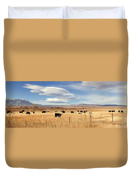 On The Open Lands Duvet Cover