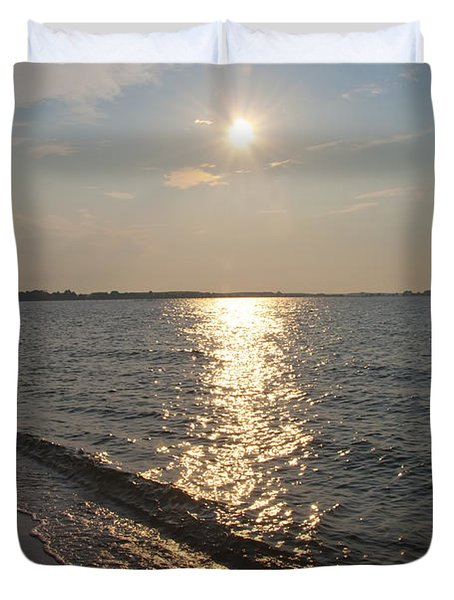 On The Potomac River - Piney Point Maryland Duvet Cover