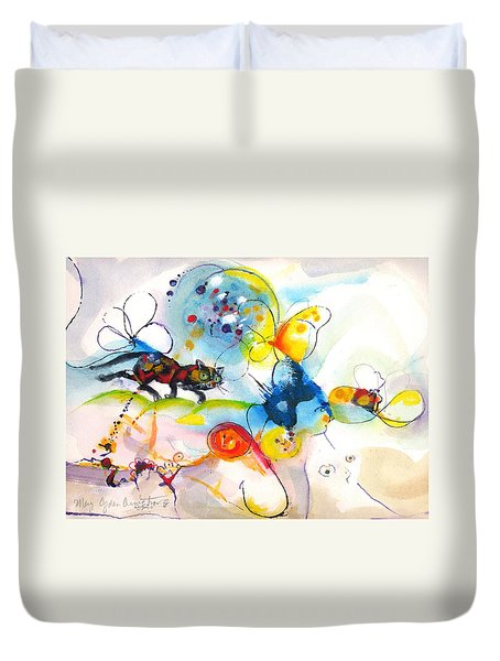 On The Prowl Duvet Cover by Mary Armstrong