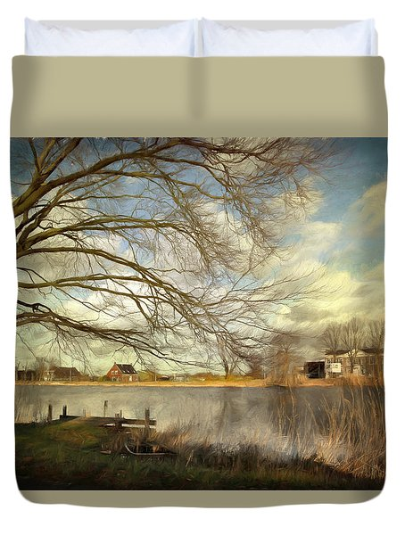 On The River Side Duvet Cover by Annie Snel