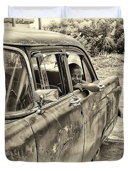 On The Road Duvet Cover by Phil Callan Photography