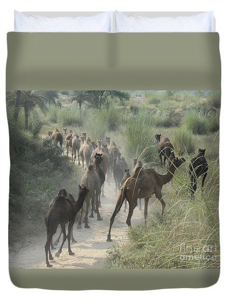 On The Road To Pushkar Duvet Cover