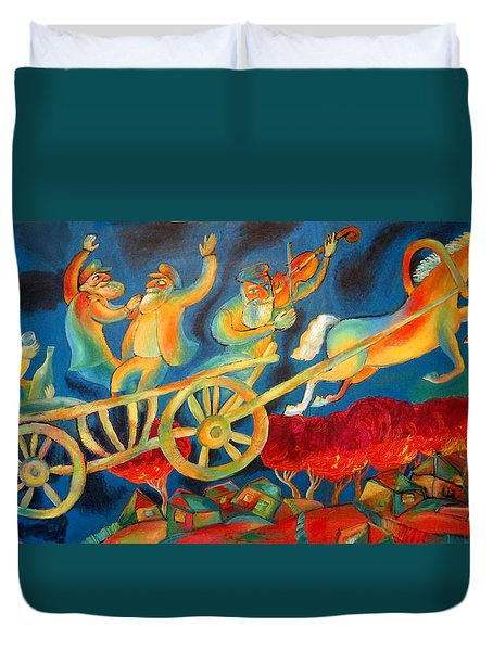 On The Road To Rebbe Duvet Cover